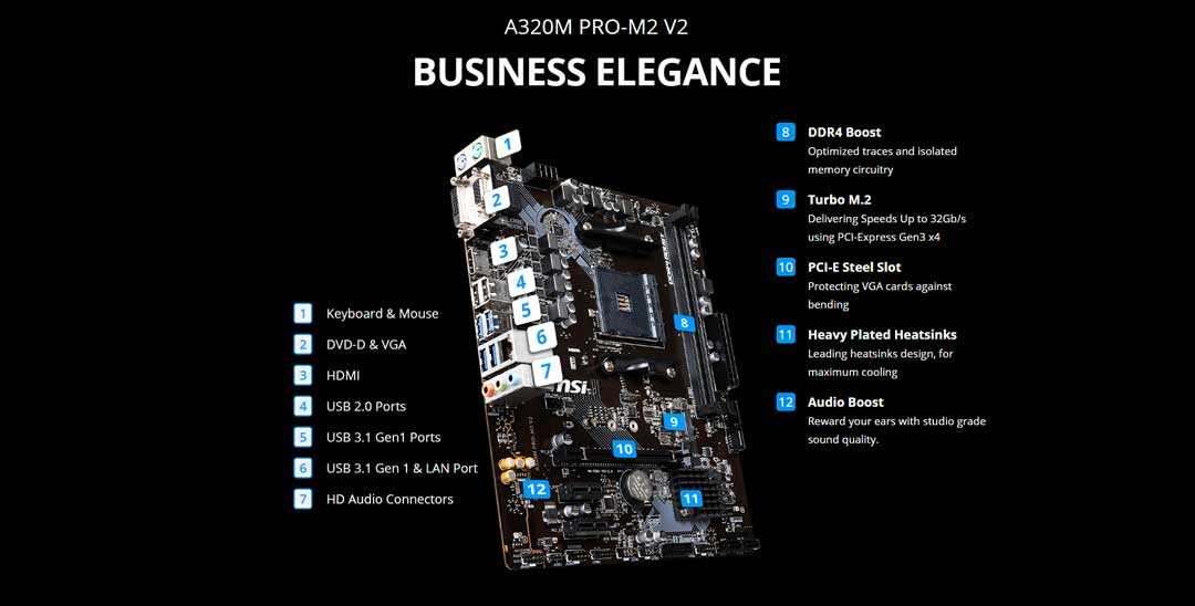 MSI A320 M , aliteq , motherboards in nepal , cheapest motherboard in nepal , MSI A320 M PRO-M2 V2 Motherboard, MSI A320 M PRO-M2 V2 Motherboard nepal