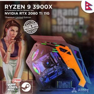 ryzen 9 custom pc , aliteq , ryzen 9 3900x , custom build nepal , custom pc nepal , rtx 2080 ti 11g , 2080 ti nepal ,