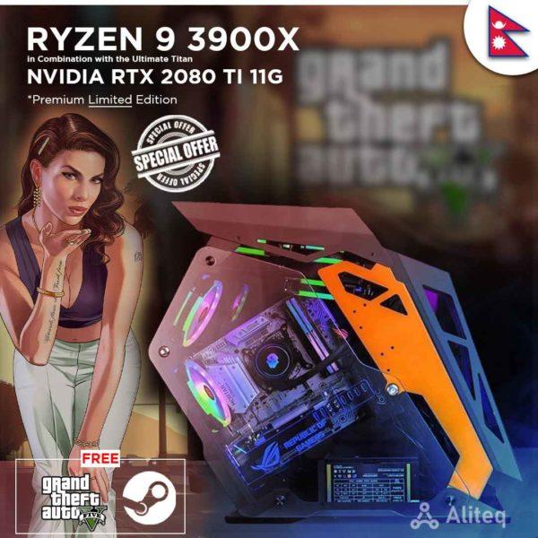 ryzen 9 custom pc , aliteq , ryzen 9 3900x , custom build nepal , custom pc nepal , rtx 2080 ti 11g , 2080 ti nepal ,