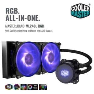 Cooler Master ML240L , Cooler Master nepal , cooler master , coolermaster, AIO cooler nepal, AIO nepal, Aliteq, pc build nepal