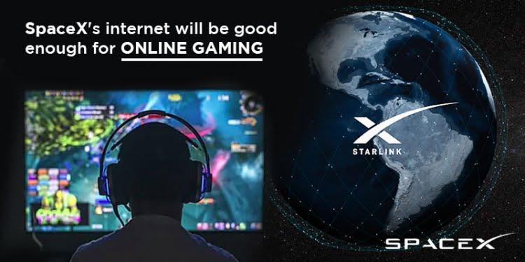 spacex, gaming, fast gaming , satellite internet gaming, spacex gaming