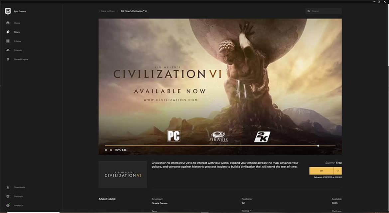epic store, civilization vi, civilization 6, civilization game