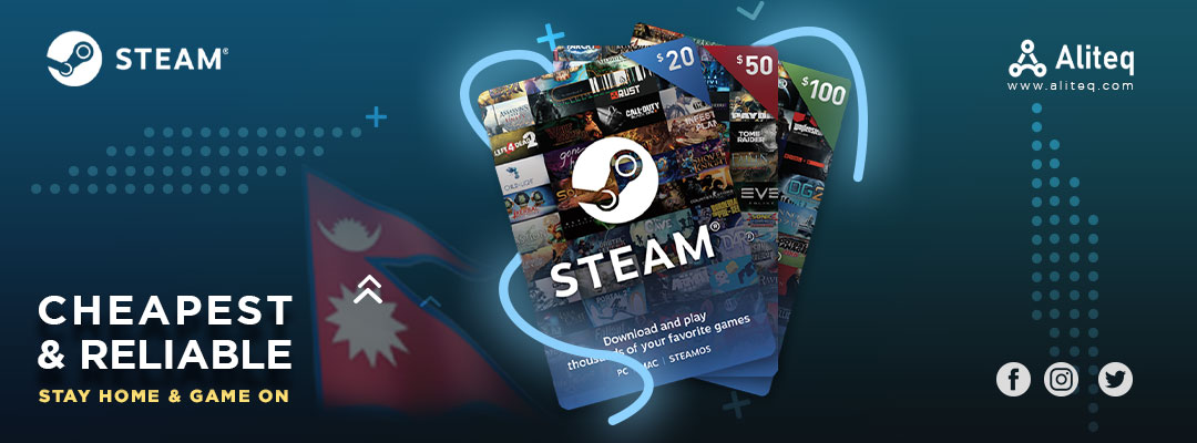 steam gift cards, steam gift cards nepal, steam cards, gift cards nepal, steam wallet card price in nepal