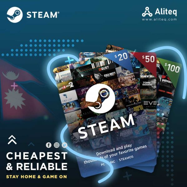 steam gift cards, steam gift cards nepal, steam cards, gift cards nepal