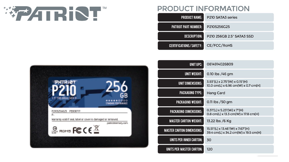 patriot, patriot price in nepal, patriot ssd, ssd price in nepal, 128 gb ssd price in nepal, 256GB ssd