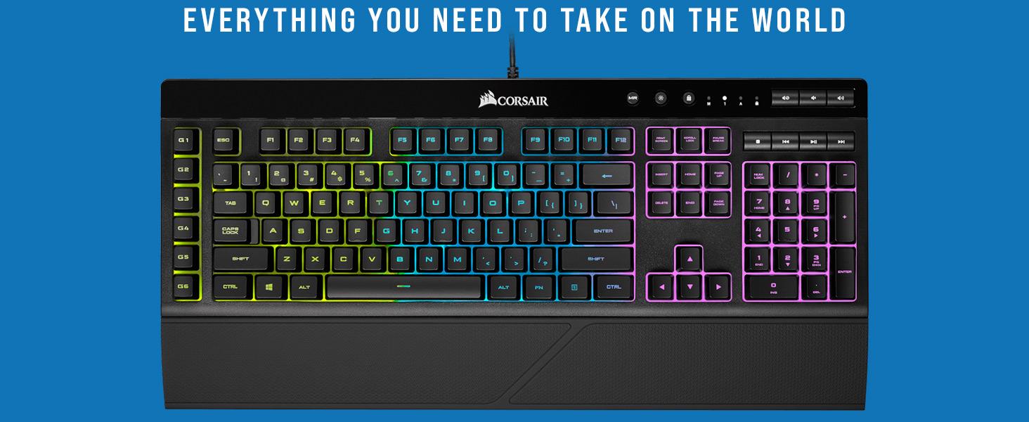 CORSAIR K55 RGB Gaming Keyboard, corsair, corsair nepal
