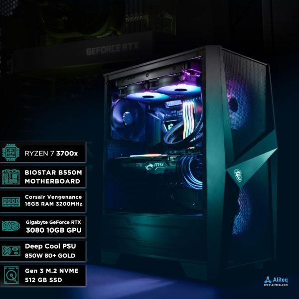 3700x gaming pc, 3080 gaming pc, 3080 price in nepal, custom gaming pc build nepal, gaming pc aliteq, aliteq nepal, gaming computer, amd gaming pc